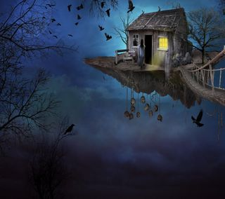 Обои на телефон фантазия, дом, fantasy house, 2160x1920