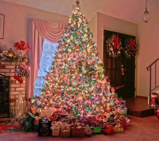 Обои на телефон happy, новый, рождество, счастливые, дерево, счастливое, год, сосна