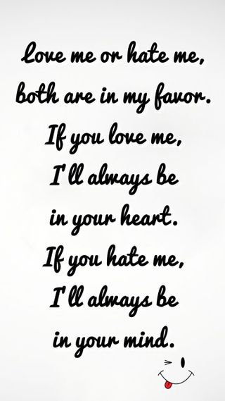 Обои на телефон ненависть, я, цитата, скучать, сердце, разум, поговорка, новый, любовь, крутые, знаки, love or hate me, love