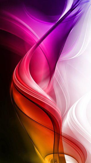 Обои на телефон цветные, фон, волны, абстрактные