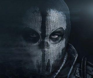 Обои на телефон черные, тень, супер, призрак, маска, игра, глаза, герой, враг, бой, cod, call of duty ghosts, black oops