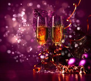 Обои на телефон шампанское, каникулы, счастливые, рождество, новый