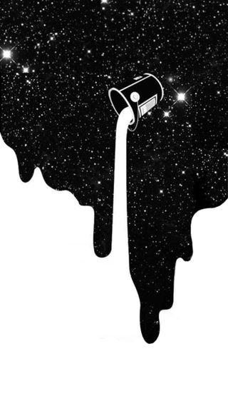 Обои на телефон рисунки, черные, космос, галактика, белые, galaxy, dripping, dope