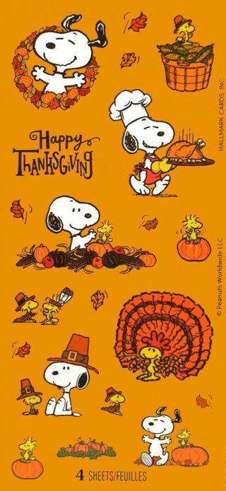 Обои на телефон благодарение, счастливые, снупи, осень, woodstock, happy