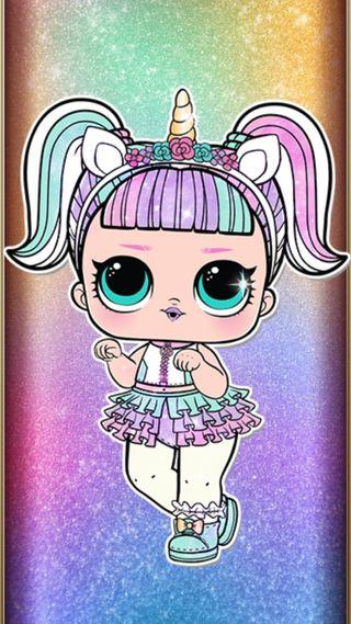 Обои на телефон лол, кукла, единорог, блестящие, unicorn lol doll, surprise