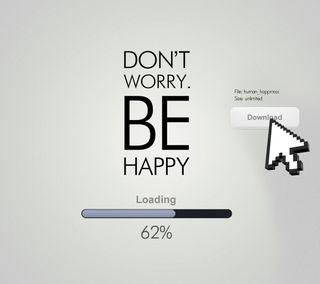 Обои на телефон будь, текст, счастливые, загрузка, забавные, высказывания, волноваться, happy