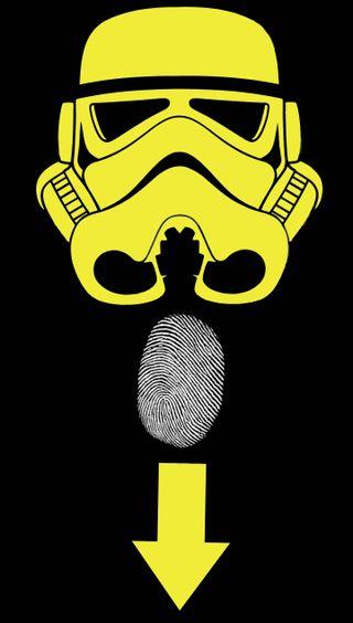 Обои на телефон штурмовик, шторм, отпечаток пальца, звездные войны, желтые, stormtrooper fingerp