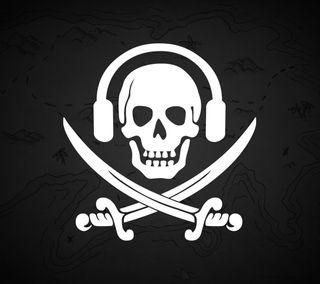 Обои на телефон пираты, череп, кости, звук, crossbones