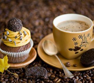 Обои на телефон торт, кофе