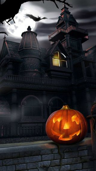 Обои на телефон тыква, хэллоуин, счастливые, дом, haunted house