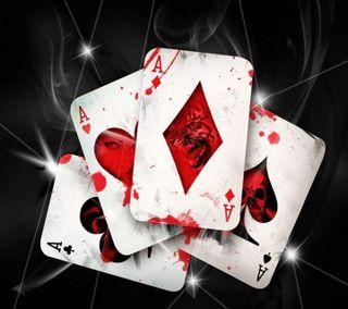 Обои на телефон карты, черные, туз, сердце, приятные, покер, крутые, aces