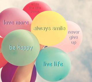 Обои на телефон шары, счастье, слова, цветные, любовь, жизнь, вдохновляющие, love