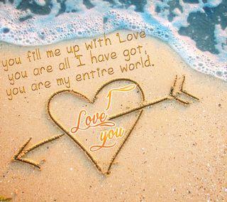 Обои на телефон стрела, ты, сердце, природа, пляж, мир, любовь, высказывания, волны, love, i love you