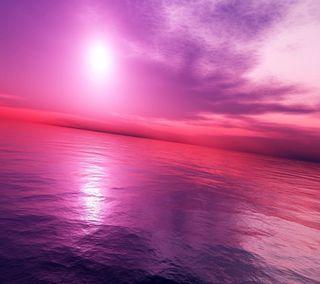 Обои на телефон отражение, фон, розовые, природа, прекрасные, облака, мир, крутые, pink world