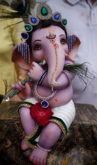 Обои на телефон статуя, ганпати, ганеш, бхагван, бог, баппа, vignaharta