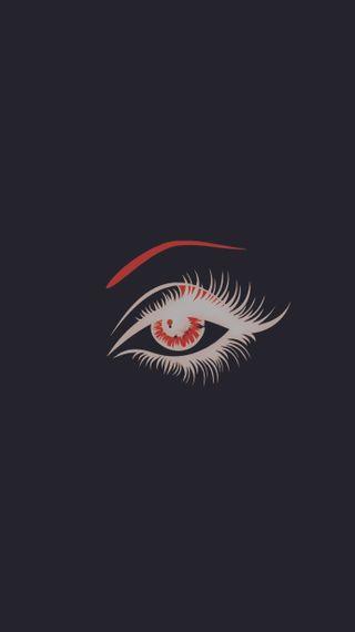 Обои на телефон один, черные, красые, глаза, белые, one