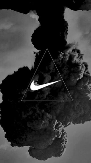 Обои на телефон черные, найк, логотипы, дым, дизайн, белые, nike