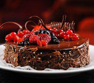 Обои на телефон ягоды, торт, еда, счастливые, милые