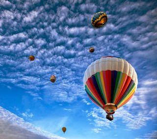 Обои на телефон шары, облака, небо, красочные, colorful air balloon, air
