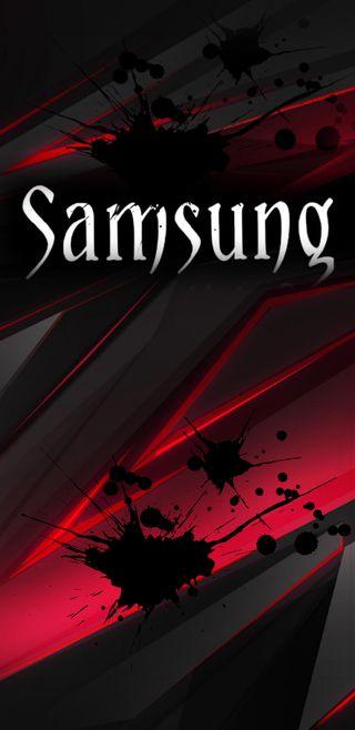 Обои на телефон чернила, шаблон, черные, самсунг, ночь, красые, samsung