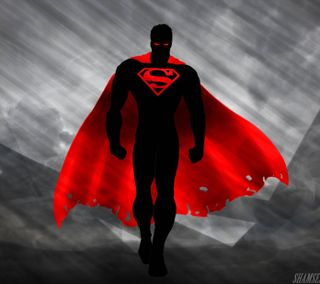 Обои на телефон анимация, темные, супермен, супергерои, стальные, комиксы, powers, dark superman, cape
