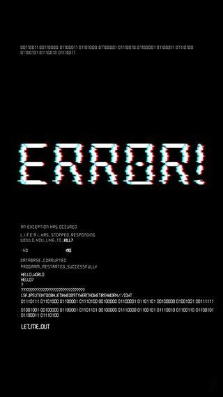 Обои на телефон ошибка, код, сбой, вирус, programming, 2019
