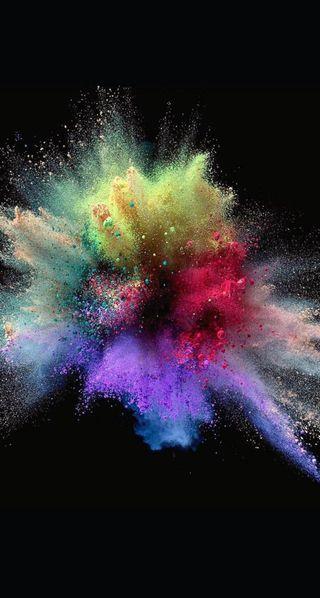 Обои на телефон взрыв, цветные, color powders