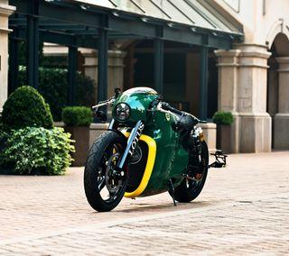 Обои на телефон мотоцикл, лотус, британия, англия, зеленые, желтые