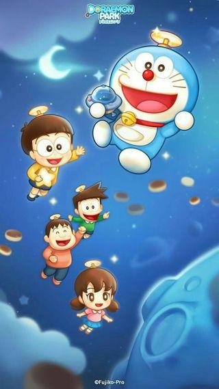 Обои на телефон семья, синие, небо, мультфильмы, звезда, друзья, doremon