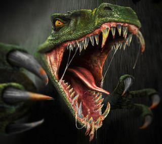 Обои на телефон ящерица, хищник, ужасы, страшные, раптор, динозавр, арт, rex, jura, art