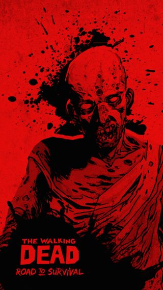 Обои на телефон ходячие, зомби, мертвый, красые, walkingdead, walking dead red, scopely