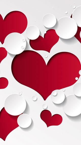 Обои на телефон формы, шаблон, сердце