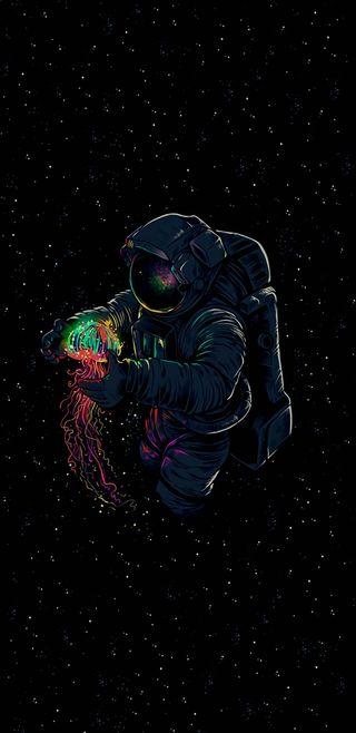 Обои на телефон космонавт, ночь, космос, картина, игра, звезды, другие, аниме, амолед, абстрактные, amoled