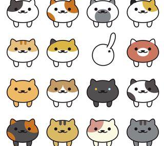 Обои на телефон неко, каваи, кошки, kawaii neko1
