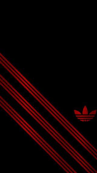 Обои на телефон адидас, черные, красые, adidas