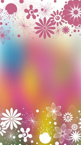 Обои на телефон цифровое, цветы, розовые, весна, белые, арт, art
