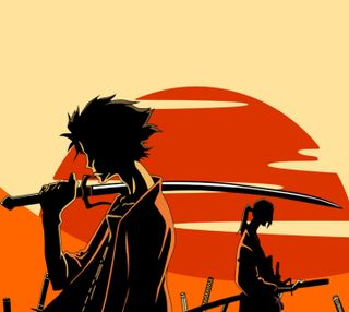 Обои на телефон самурай, джин, аниме, samurai champloo, mugen