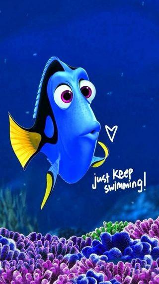 Обои на телефон рыба, плавание, немо, keep