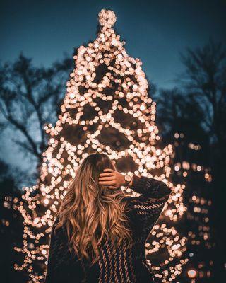 Обои на телефон чикаго, рождество, огни, новый, длинный, дерево, год, new year 2018, long exposure, hdr pics, fahadnoor090
