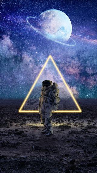 Обои на телефон премиум, цифровое, хасака, фото, фантазия, треугольник, сюрреалистичный, свобода, свет, путь, портал, планета, неоновые, небо, млечный, марс, манипуляция, луна, космос, космонавт, галактика, арт, space man, photo manipulation, neon portal, imagination, ground, galaxy, free premium wallpaper, dimension, arrive, arrival, Arrival