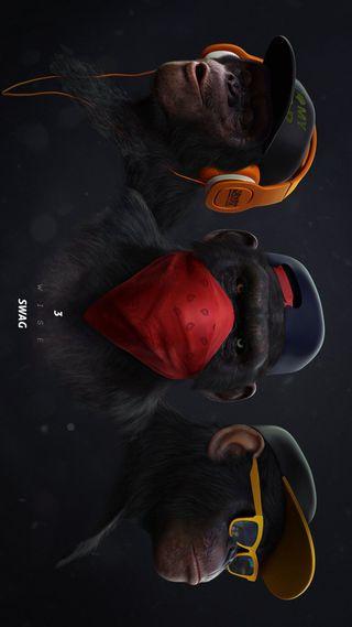 Обои на телефон обезьяны, swag, monkey swag2