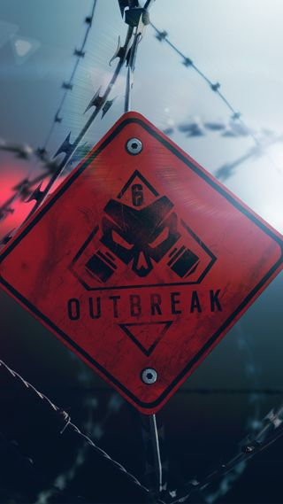 Обои на телефон outbreak, rainbow six siege, радуга, осада, осторожно, шесть