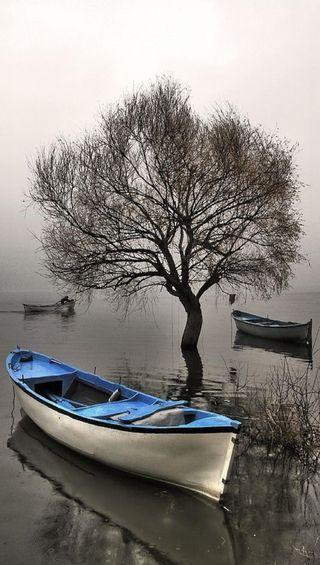 Обои на телефон лодки, синие, sadf, blue boat