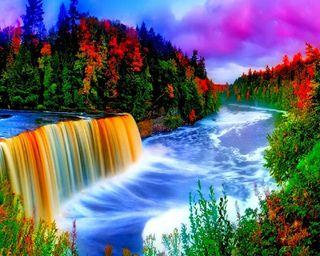 Обои на телефон водопад, приятные, прекрасные, красочные, hd, good, colorful waterfall