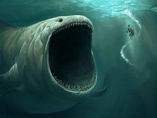 Обои на телефон океан, легенда, вода, monster, giant
