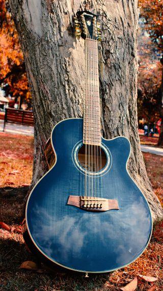 Обои на телефон фото, металл, дерево, синие, гитара, strings, gitar