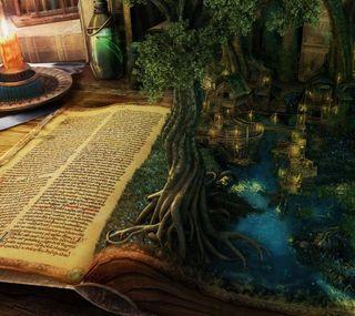 Обои на телефон книга, магия