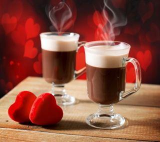 Обои на телефон кофе, сердце, романтика, любовь, день, romantic cappucino, love