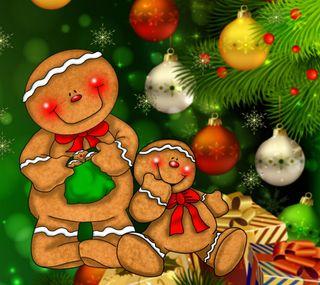 Обои на телефон торт, счастливое, рождество, дерево