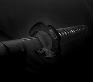 Обои на телефон оружие, меч, черные, катана, hd